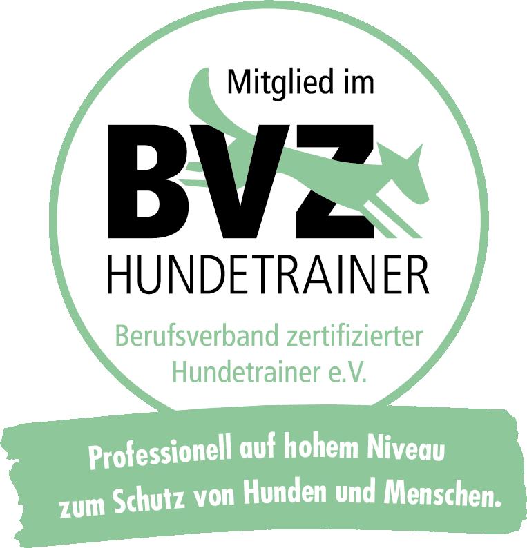 BVZ HUNDETRAINER Logo rund neu - Trainieren bei Ihnen Zuhause